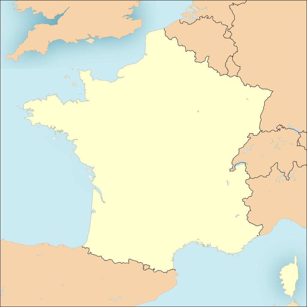 carte de france vierge Bases de l'OTAN en France. Source : http://data. Câble sous marin