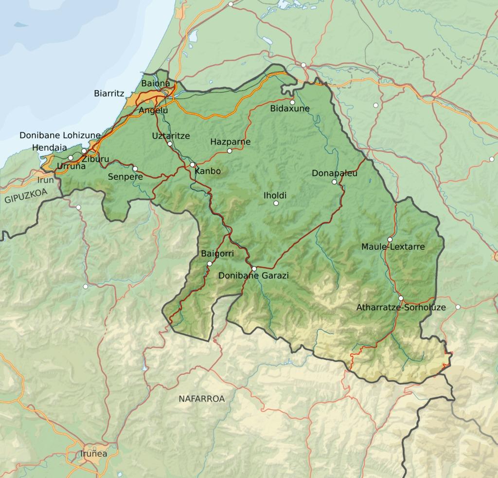 Carte Pays Basque Francais.Blason De Bidart Source Http Data Abuledu Org Blason De