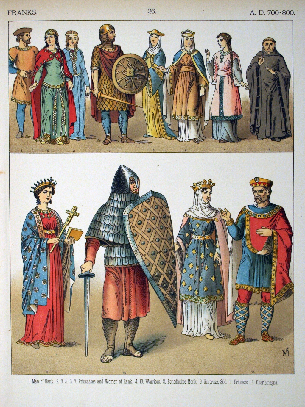 portrait de charlemagne source data abuledu org ancien  costumes de francs source data abuledu org