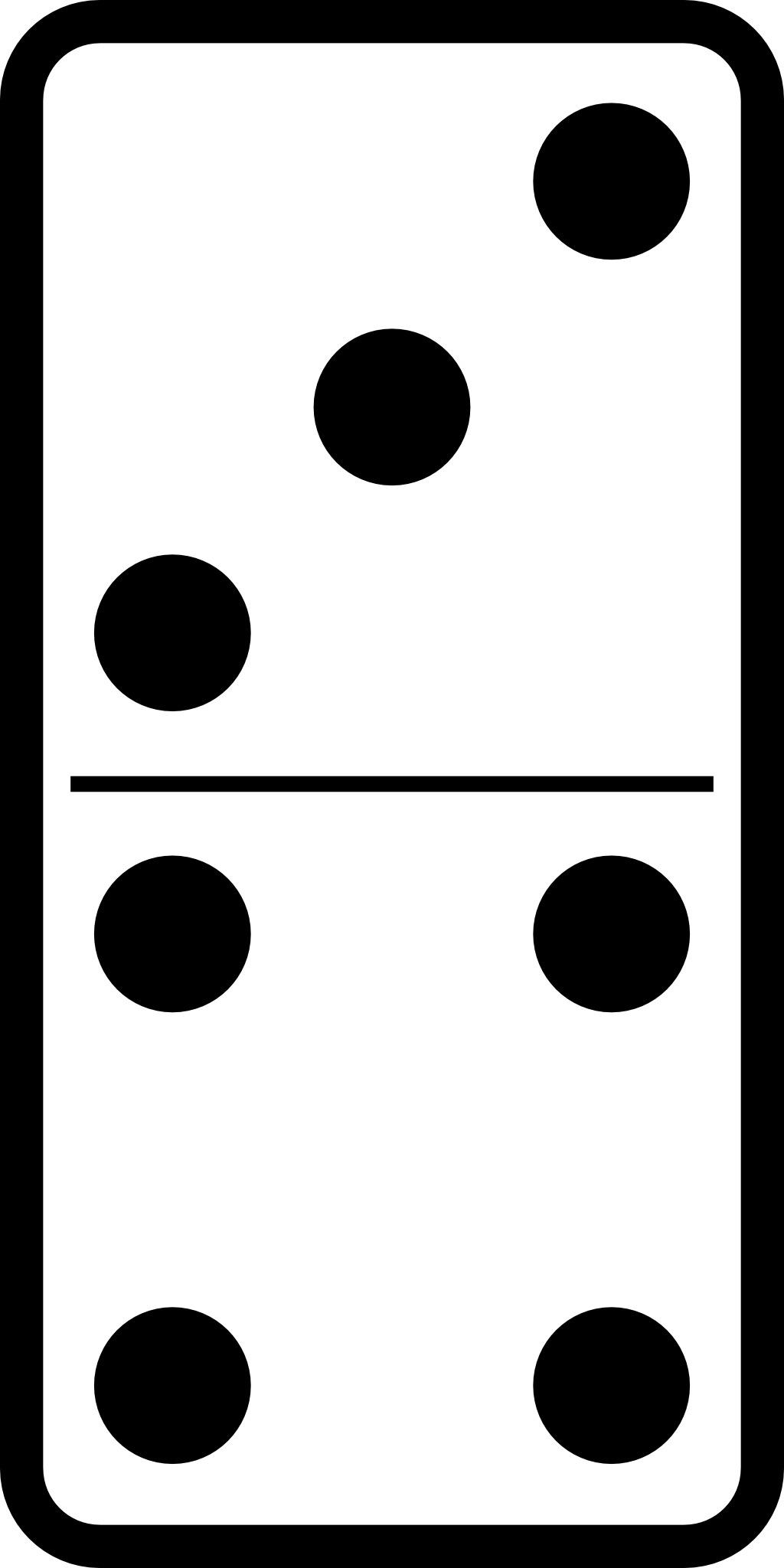 Domino 3 4 source - Coloriage domino ...