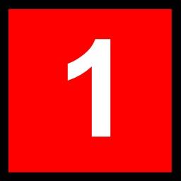 1 blanc sur fond rouge. Source : http://data.abuledu.org/URI/50c4e75b-1-blanc-sur-fond-rouge