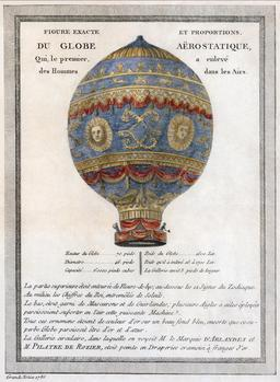 Montgolfière des frères Montgolfier. Source : http://data.abuledu.org/URI/53bd396b-1783-balloonj-jpg