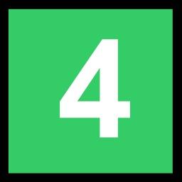 4 blanc sur fond vert. Source : http://data.abuledu.org/URI/50c4e841-4-blanc-sur-fond-vert