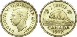 5 cents en laiton du Canada avec castor. Source : http://data.abuledu.org/URI/51156ad8-5-cents-en-laiton-du-canada-avec-castor