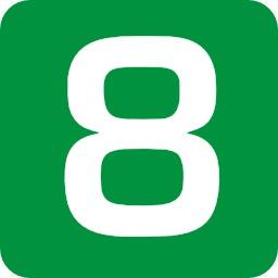 8 en blanc sur fond vert. Source : http://data.abuledu.org/URI/50c4e945-8-en-blanc-sur-fond-vert