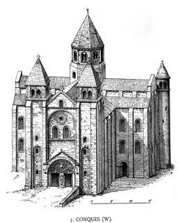Abbatiale de Conques en 1901. Source : http://data.abuledu.org/URI/53f44b20-abbatiale-de-conques-en-1901