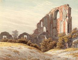 Abbaye allemande en ruine. Source : http://data.abuledu.org/URI/50e18582-abbaye-allemande-en-ruine