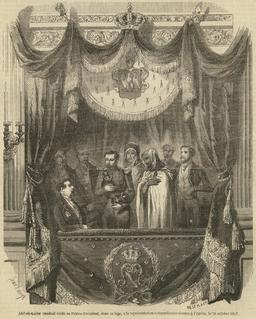 Abd-el-Kader et Napoléon III en 1852. Source : http://data.abuledu.org/URI/587032d7-abd-el-kader-et-napoleon-iii-en-1852