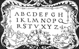Abécédaire du seizième siècle. Source : http://data.abuledu.org/URI/53765f92-abecedaire-du-seizieme-siecle