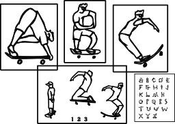 Abécédaire du skateur. Source : http://data.abuledu.org/URI/5346ebe6-abecedaire-du-skateur