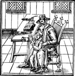 Abécédaire sur tablette de 1622. Source : http://data.abuledu.org/URI/537680d3-abecedaire-sur-tablette-de-1622