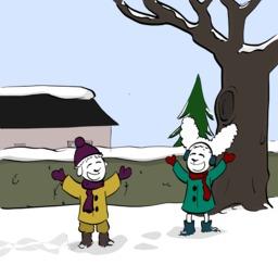 Abel et Bellina dans la neige - 01. Source : http://data.abuledu.org/URI/5488c8a0-abel-et-bellina-dans-la-neige-01