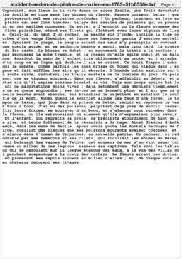Accident aérien de Pilâtre de Rozier en 1785. Source : http://data.abuledu.org/URI/51b0530e-accident-aerien-de-pilatre-de-rozier-en-1785