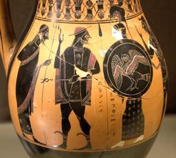 Accueil d'Héraclès dans l'Olympe. Source : http://data.abuledu.org/URI/505622ef-accueil-d-heracles-dans-l-olympe