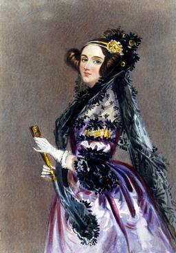 Portrait de Ada Lovelace en 1840. Source : http://data.abuledu.org/URI/5373691f-ada-lovelace-
