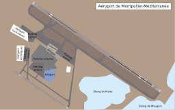 Aéroport de Montpellier. Source : http://data.abuledu.org/URI/51d0982f-aeroport-de-montpellier