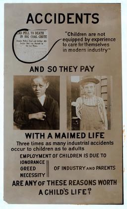 Affiche américaine contre le travail des enfants. Source : http://data.abuledu.org/URI/58c72146-affiche-americaine-contre-le-travail-des-enfants