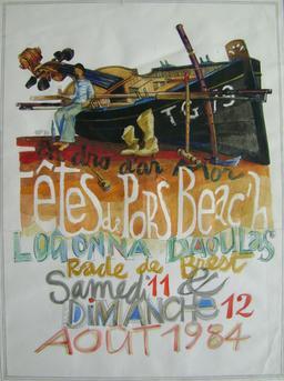 Affiche bilingue des fêtes de Pors Beac'h 84. Source : http://data.abuledu.org/URI/5461192d-affiche-bilingue-des-fetes-de-pors-beac-h-84