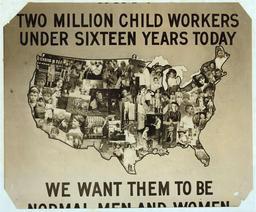 Affiche contre le travail des enfants aux États-Unis en 1914. Source : http://data.abuledu.org/URI/5262b531-affiche-contre-le-travail-des-enfants-aux-etats-unis-en-1914