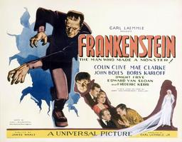 Affiche de Frankenstein en 1931. Source : http://data.abuledu.org/URI/52ad9c49-affiche-de-frankenstein-en-1931