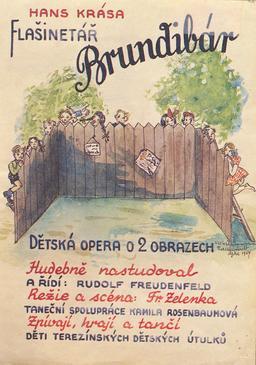 Affiche de l'opéra tchèque de Brundibar. Source : http://data.abuledu.org/URI/597f14db-affiche-de-l-opera-tcheque-de-brundibar