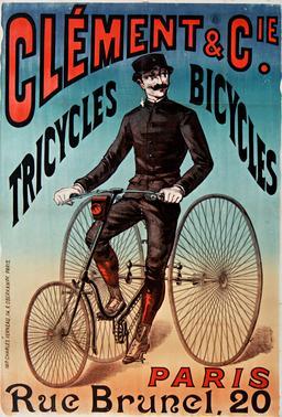 Affiche de tricyle en 1890. Source : http://data.abuledu.org/URI/59318981-affiche-de-tricyle-en-1890