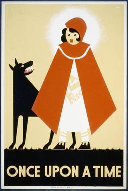 Affiche du chaperon rouge. Source : http://data.abuledu.org/URI/5043761e-affiche-du-chaperon-rouge