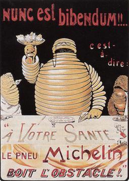 Affiche Michelin de 1898. Source : http://data.abuledu.org/URI/5512a539-affiche-michelin-de-1898