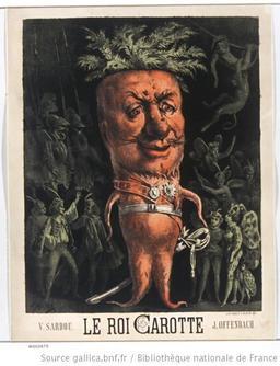 Affiche pour Le Roi Carotte. Source : http://data.abuledu.org/URI/50f2230c-affiche-pour-le-roi-carotte