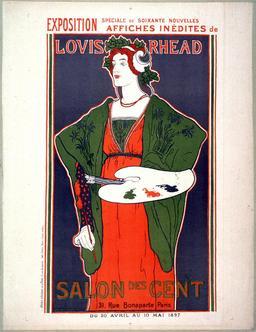 Affiche pour le Salon des Cent. Source : http://data.abuledu.org/URI/52b362ac-affiche-pour-le-salon-des-cent