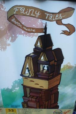 Affiche pour un spectacle de contes de fées à Édimbourg. Source : http://data.abuledu.org/URI/55df6deb-affiche-pour-un-spectacle-de-contes-de-fees-a-edimbourg