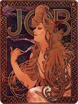 Affiche publicitaire pour le papier à cigarettes. Source : http://data.abuledu.org/URI/50e45230-affiche-publicitaire-pour-le-papier-a-cigarettes
