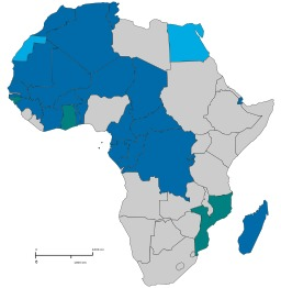Afrique francophone en 2013. Source : http://data.abuledu.org/URI/52d16095-afrique-francophone-en-2013