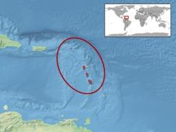 Aire de répartition de l'iguane des Petites Antilles. Source : http://data.abuledu.org/URI/52b8644a-aire-de-repartition-de-l-iguane-des-petites-antilles