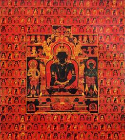 Akshobhya l'impassible, un des Dhyani Bouddhas. Source : http://data.abuledu.org/URI/529e68c1-akshobhya-l-impassible-un-des-dhyani-bouddhas