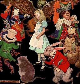 Alice au pays des merveilles. Source : http://data.abuledu.org/URI/511bfdb3-alice-au-pays-des-merveilles