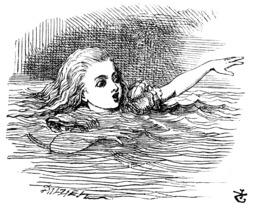 Alice dans une mare de larmes salées. Source : http://data.abuledu.org/URI/50cf865d-alice-dans-une-mare-de-larmes-salees