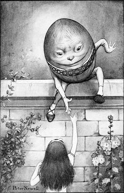 Alice et Humpty Dumpty. Source : http://data.abuledu.org/URI/54ee3d30-alice-et-humpty-dumpty