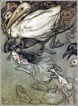 Alice et la mare de larmes. Source : http://data.abuledu.org/URI/532d71d8-alice-et-la-mare-de-larmes