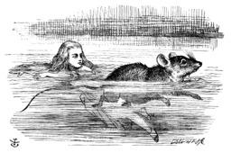 Alice et la souris nagent dans la mare. Source : http://data.abuledu.org/URI/50cf87f6-alice-et-la-souris-nagent-dans-la-mare