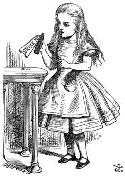 Alice et le breuvage interdit. Source : http://data.abuledu.org/URI/50cf806a-alice-et-le-breuvage-interdit