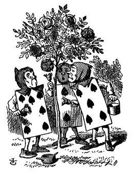 Alice et le croquet de la reine. Source : http://data.abuledu.org/URI/53b6bf3b-alice-et-le-croquet-de-la-reine