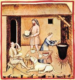 Alimentation au Moyen Age : le fromage de brebis. Source : http://data.abuledu.org/URI/50cb0e59-alimentation-au-moyen-age-le-fromage-de-brebis