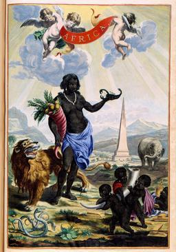 Allégorie de l'Afrique. Source : http://data.abuledu.org/URI/573d2e72-allegorie-de-l-afrique
