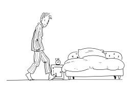 Aller se coucher. Source : http://data.abuledu.org/URI/5024e77b-aller-se-coucher