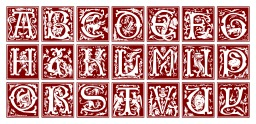 Alphabet du XVIème siècle. Source : http://data.abuledu.org/URI/53e7616d-alphabet-du-xvieme-siecle