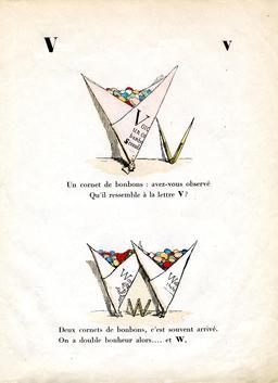 Alphabet enchanté, les lettres V et W. Source : http://data.abuledu.org/URI/53145496-alphabet-enchante-la-lettre-v