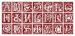 Alphabet fantaisie du XVIème siècle. Source : http://data.abuledu.org/URI/50e4d677-alphabet-fantaisie-du-xvieme-siecle