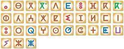 Alphabet Tifinagh. Source : http://data.abuledu.org/URI/52bc9b34-alphabet-tifinagh