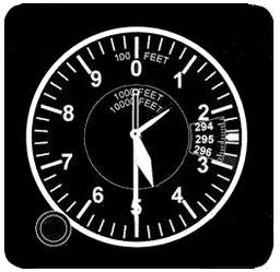 Altimètre gradué en pieds. Source : http://data.abuledu.org/URI/518f6c30-altimetre-gradue-en-pieds